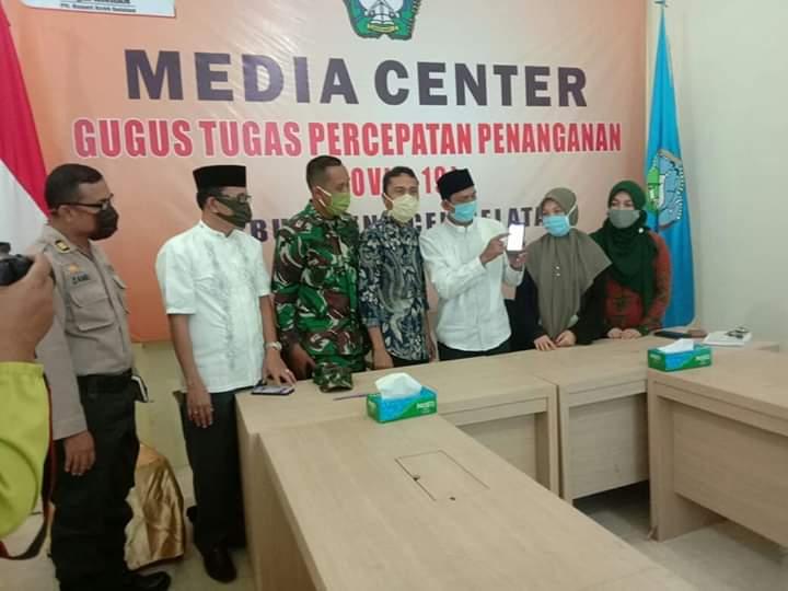 Plt Bupati Launching Penggunaan Aplikasi P-Covid19 Buatan Politeknik Aceh Selatan