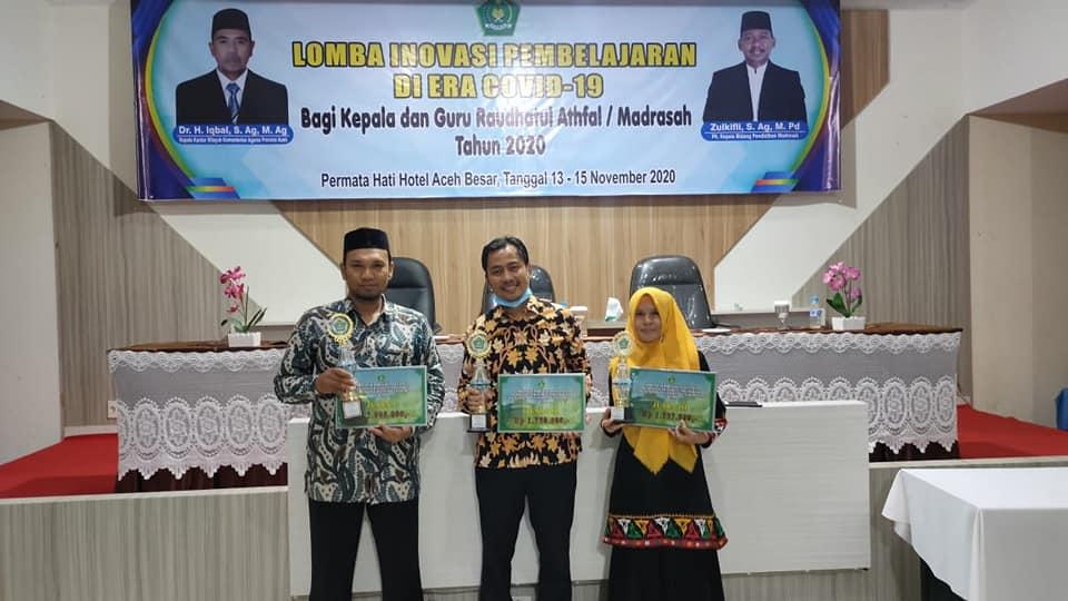 Sekretaris Pergunu Aceh Besar Juara I Lomba Inobel Era Covid-19 Guru Madrasah Aceh
