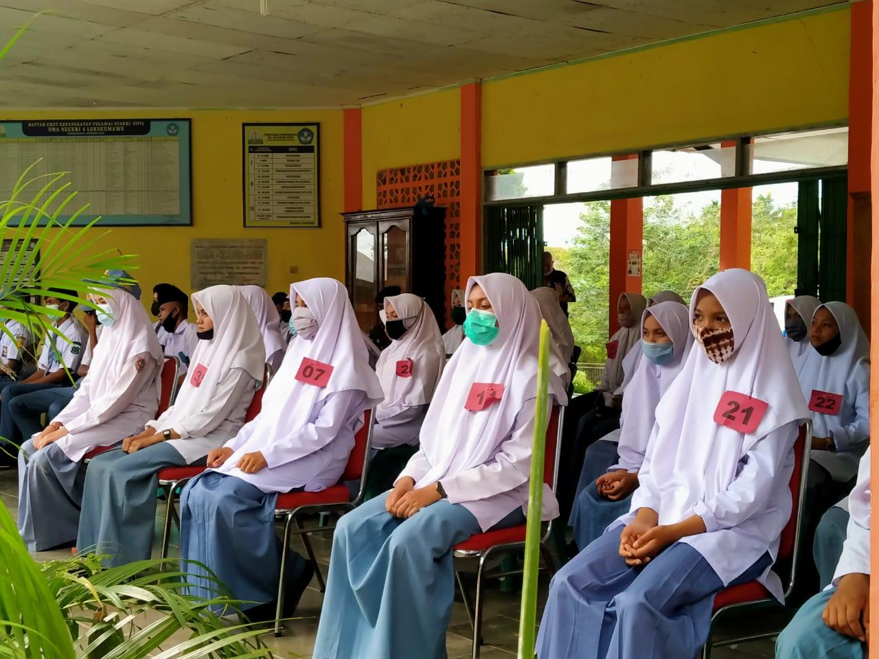 Puluhan Siswa SMA Lhokseumawe Dilatih Kepemimpinan