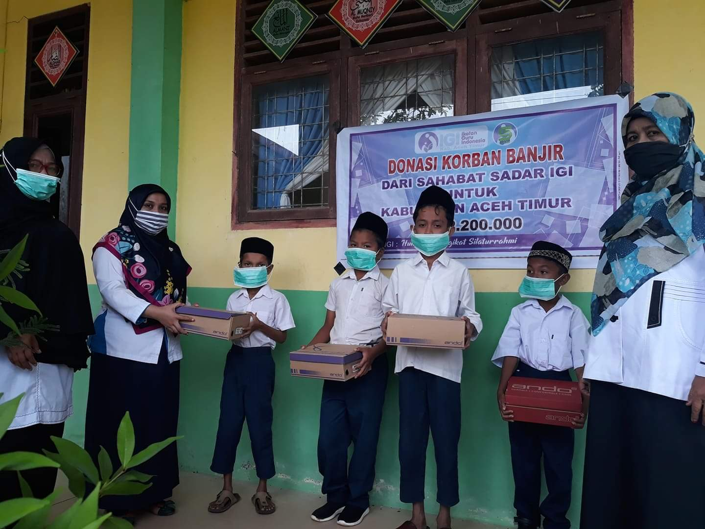 IGI Aceh Timur Salurkan Bantuan Banjir