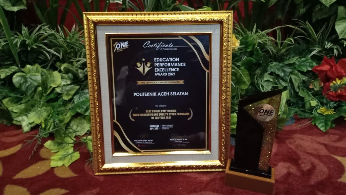 Inovasi Masa Pandemi, Poltas Raih Education Performance Excellence Award Tahun 2021
