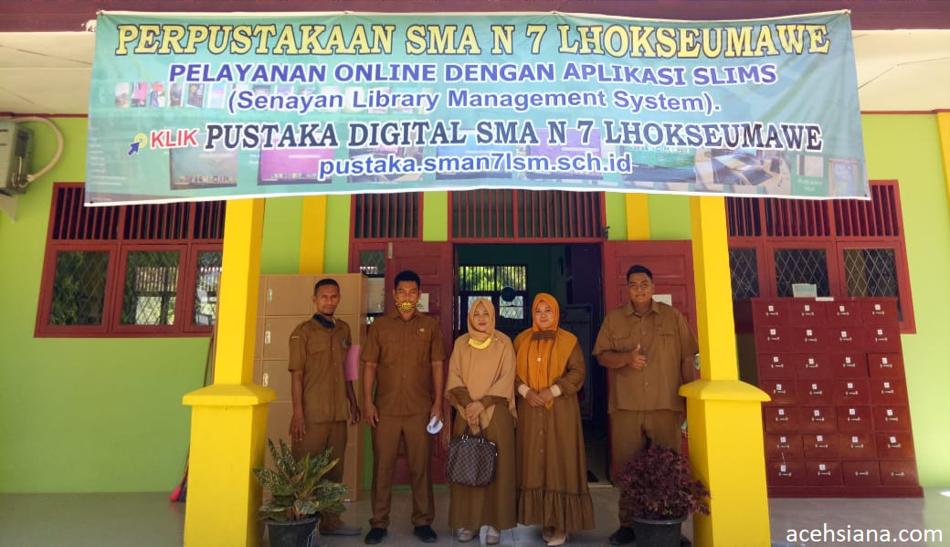 Dinas Arpus Sebut Pustaka SMAN 7 Yang Pertama Berbasis Digital di Lhokseumawe