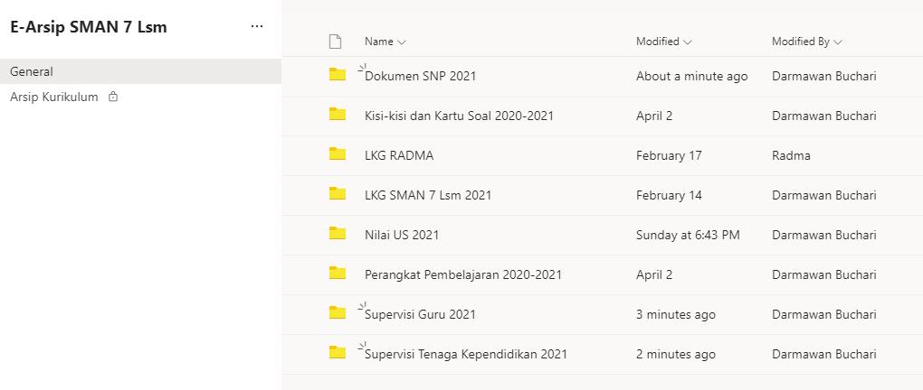 SMAN 7 Lhokseumawe Kembang E-Arsip Berbasis Microsoft