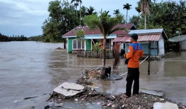 Sungai Kluet Meluap, Satu Rumah Hilang Terseret Arus
