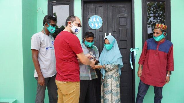 Komunitas Steem Amal Bangun Rumah untuk Fakir Miskin