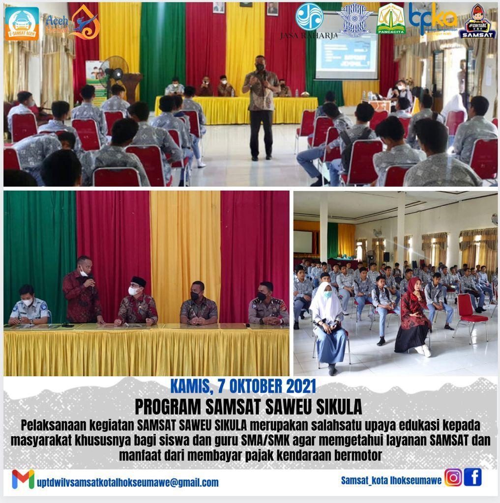 Samsat Lhokseumawe Luncurkan Program Samsat Saweu Sikula